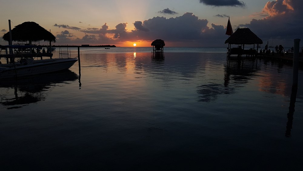 Sunsets at Caye Caulker are pretty special