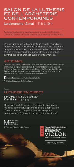 Salon Lutherie Montreal