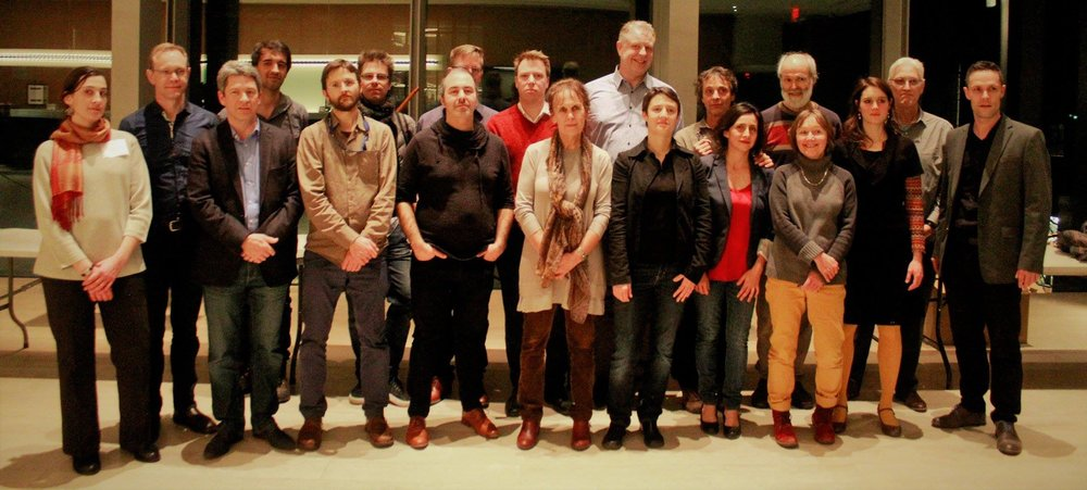 From left to right: Charline Dequincey, Guy Harrison, Ray Schryer, Lucas Castera, Éric Gagné, Charles Arsenault, Richard Morency, Andreas Salewski, Michele Ashley, Guillaume Turgeon, Fabienne Gauchet, Stephen Quinney, Itzel Ávila, André Lavoye, Gregory Walke, Sibylle Ruppert, Léila Barbedette, John Newton, Emanuel Euvrard.