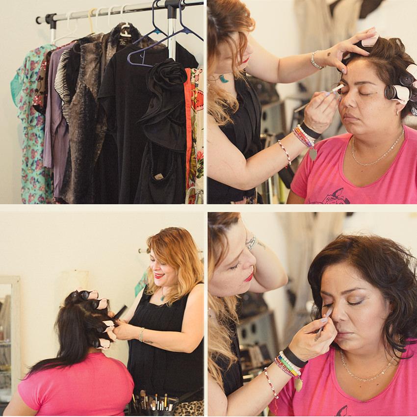 Peinado y maquillaje,  Gaby Muriel