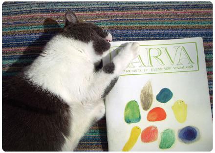 Ilustración para la portada de la revista Larva