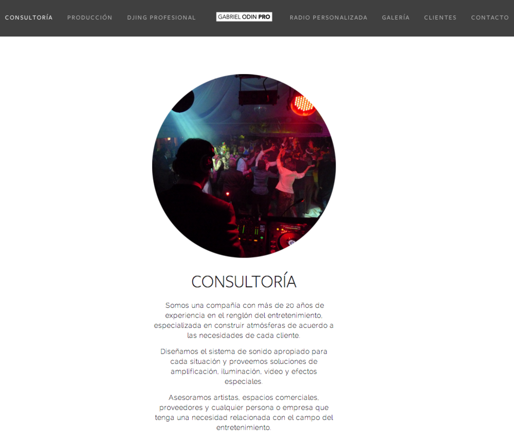 Gabriel Odin Pro -Identidad gráfica y  website