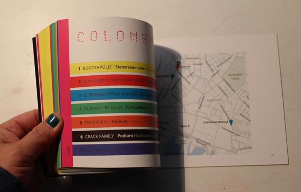 Diseño editorial del catálogo de la exposición Colomborama en Oslo, Noruega