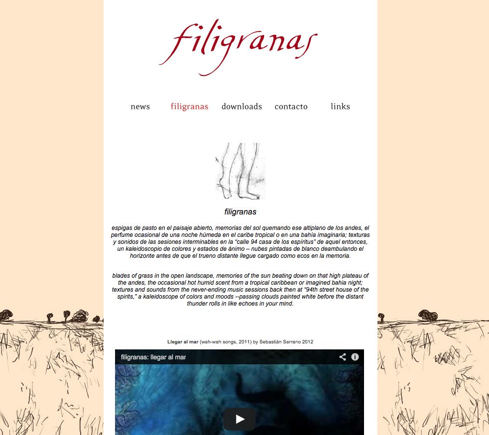 Filigranas -Diseño de  página web .