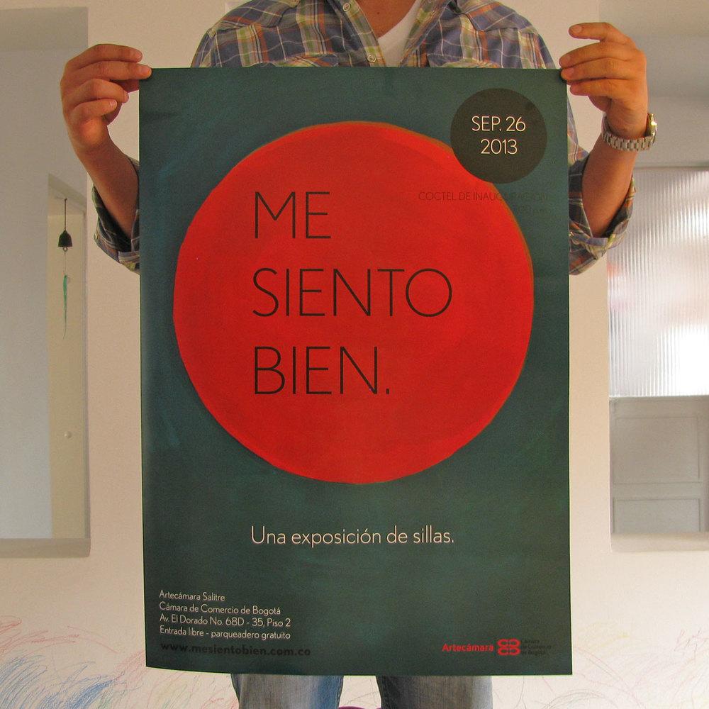 Me Siento Bien: una exposición de sillas -Diseño de imagen para la exposición de sillas en la Cámara de Comercio de Bogotá.