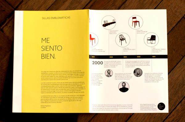 Infografía con la historia de la silla desde su industrialización.