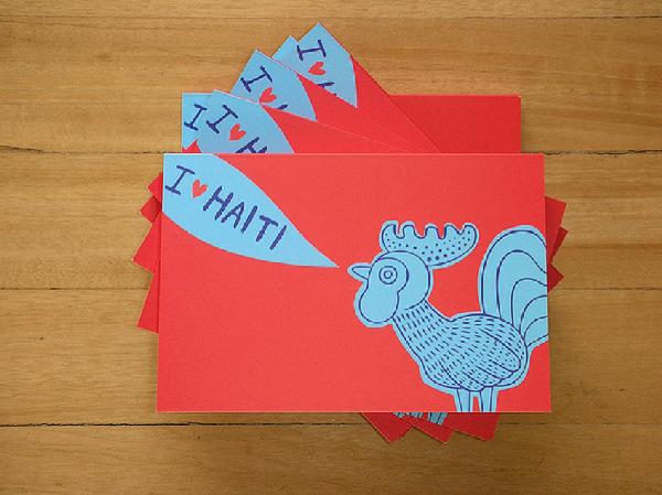 I Heart Haití: libro de 30 postales -edición única de 300 ejemplares- con imágenes donadas por artistas y diseñadores colombianos para apoyar los proyectos de reconstrucción en Haití por la fundación Architecture for Humanity. Véalo completo en  este enlace .