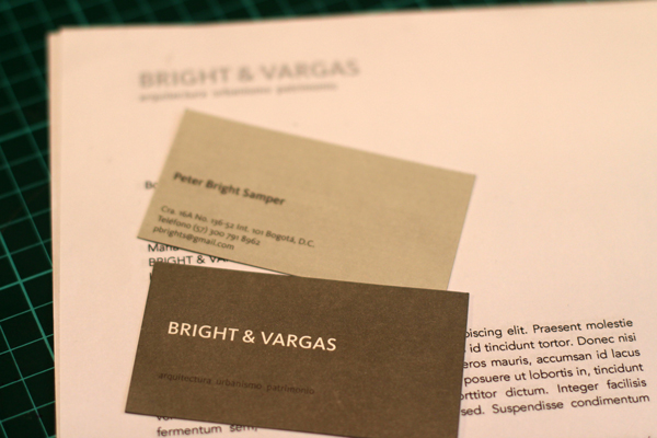 Bright & Vargas Arquitectura -Identidad gráfica