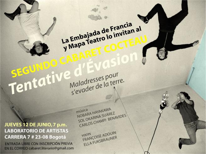 Cabaret Cocteau: flyer