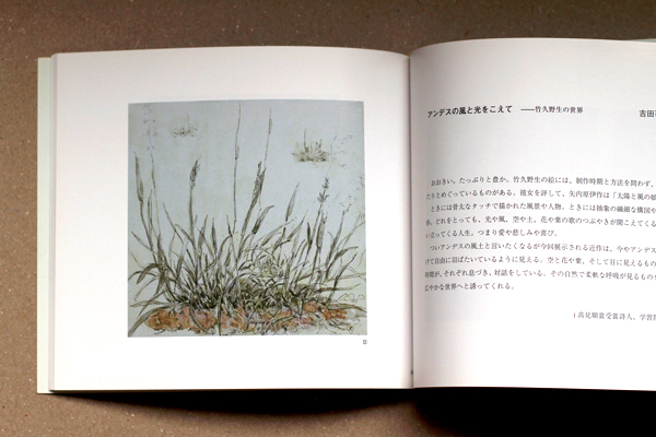 Diseño editorial de catálogo monográfico sobre la obra de Nobu Takehisa, editado en Tokyo por la Galería Yumeji. 30 páginas.