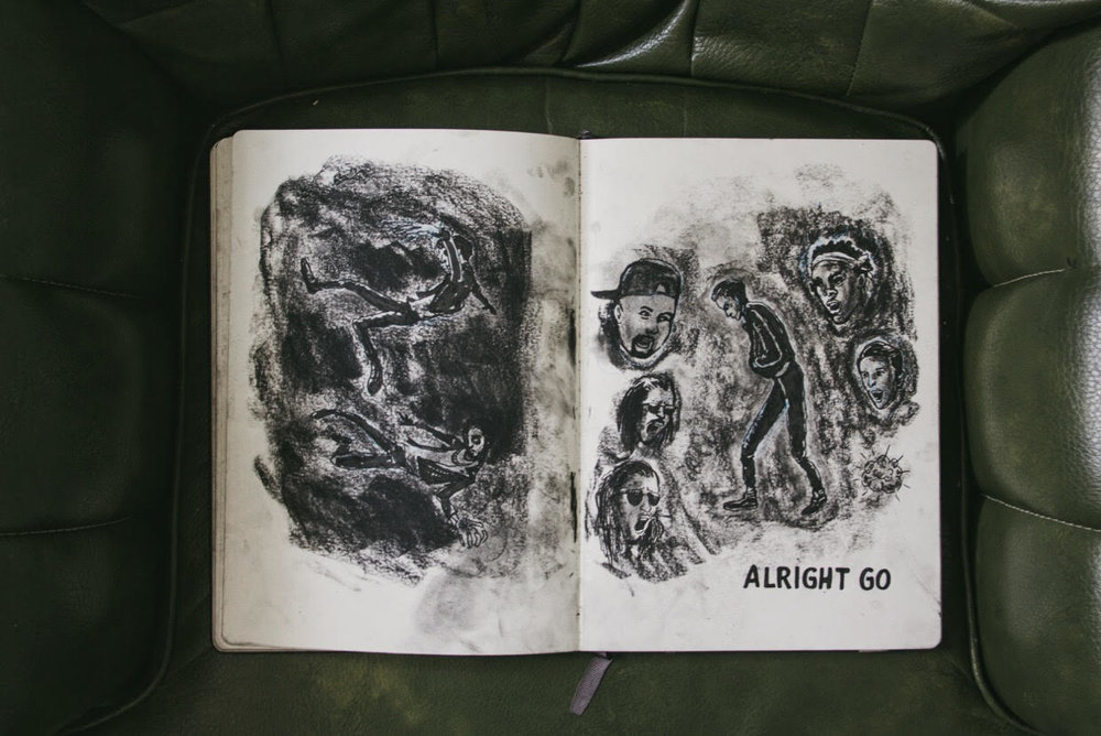 JOONBUG: These are the messy, charcoal-filled pages for the G-Eazy music video, Sad Boy. The project brought me together with an animator team, for the first time, and with that I learned a lot; good fun but time-consuming.
