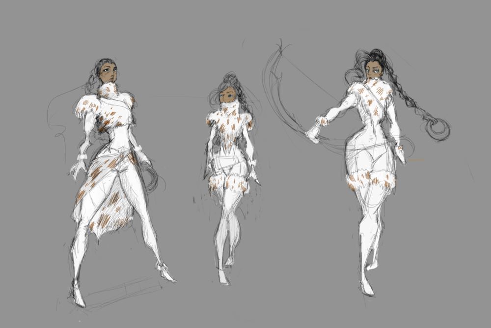 early sketches of artemis
