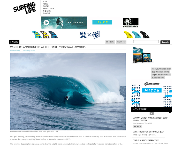 Surfing Life - Big Wave Awards