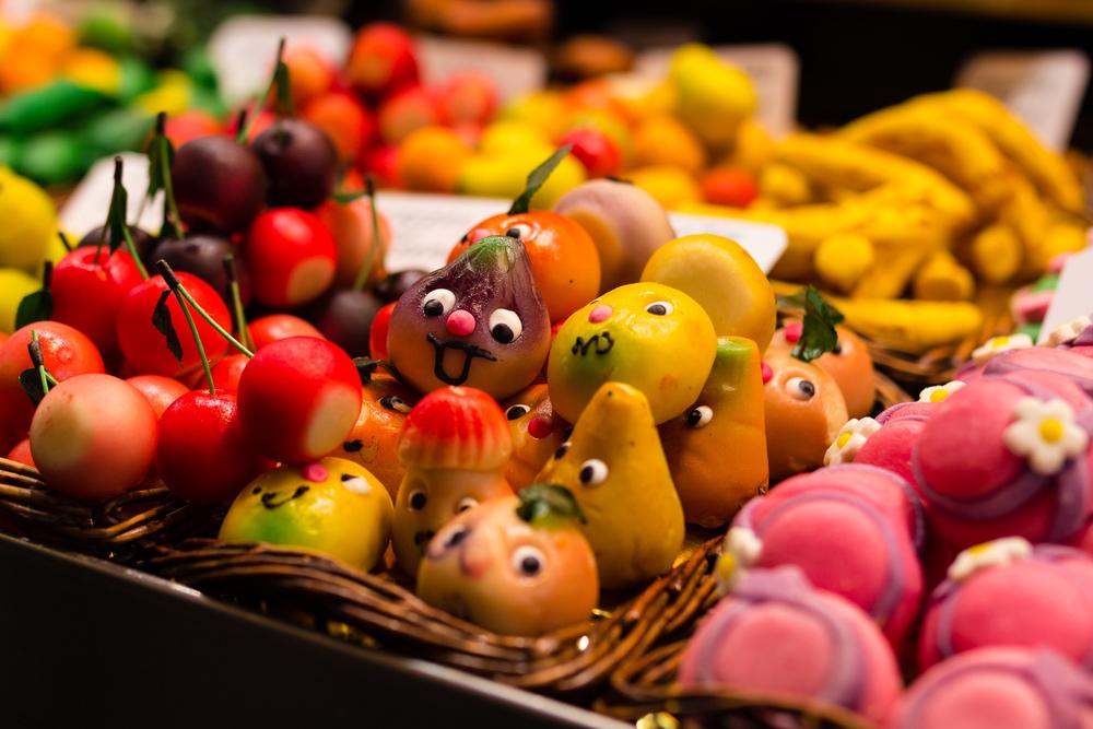 Sweets in La Boqueria market, Barcelona