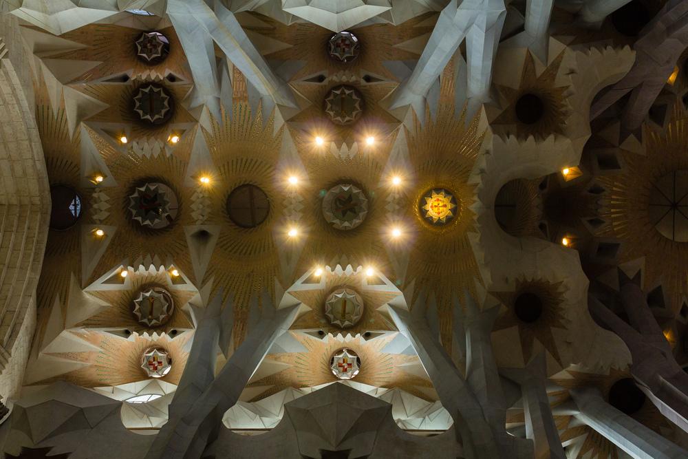 La Sagrada Familia ceiling, Barcelona