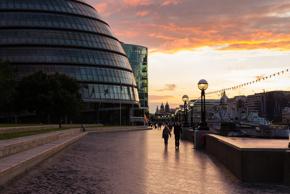 London City Hall at Sunset