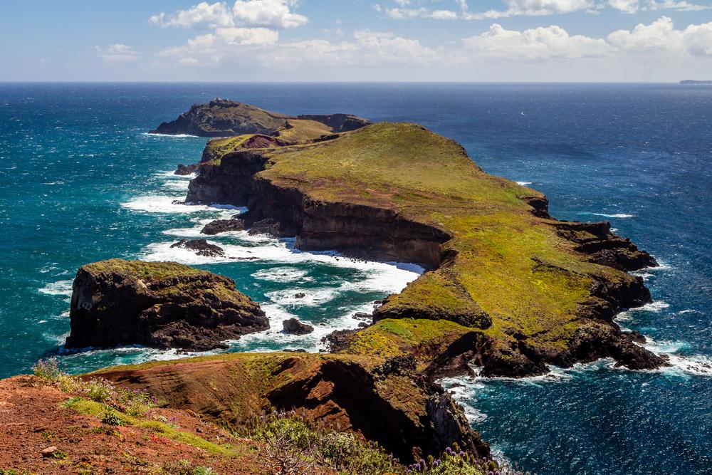 Protected islands in Ponta de São Lourenço Madeira