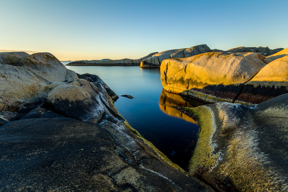 Sunrise at Low Tide, Kjerringvik, Norway.
