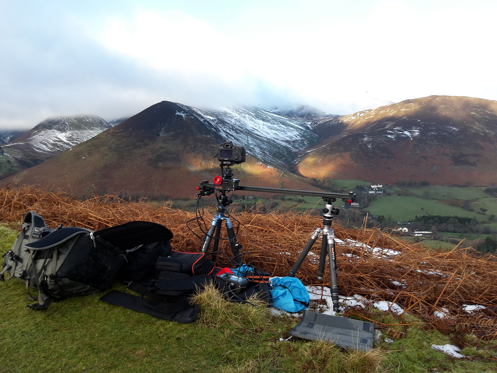 Running a timelapse one winter morning.