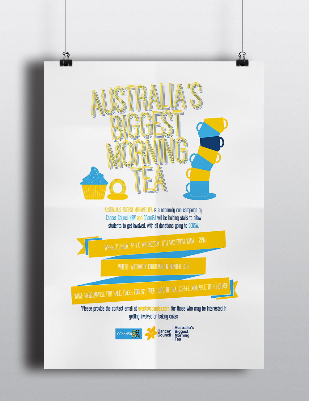 Poster for the Cancer Council Student Alliance at the University of Newcastle