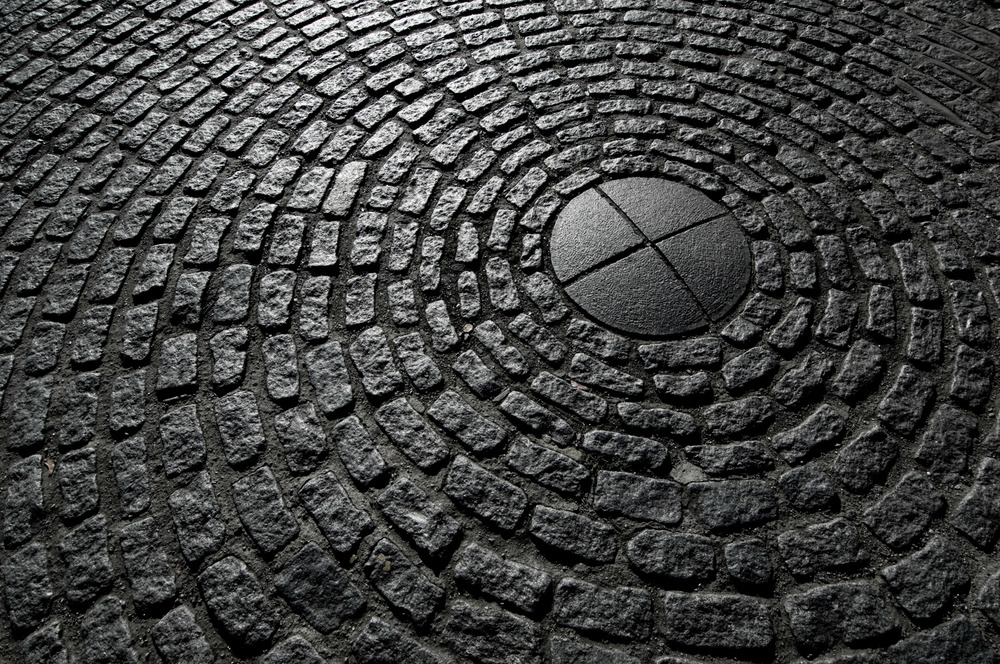 Circular Brick Pavement