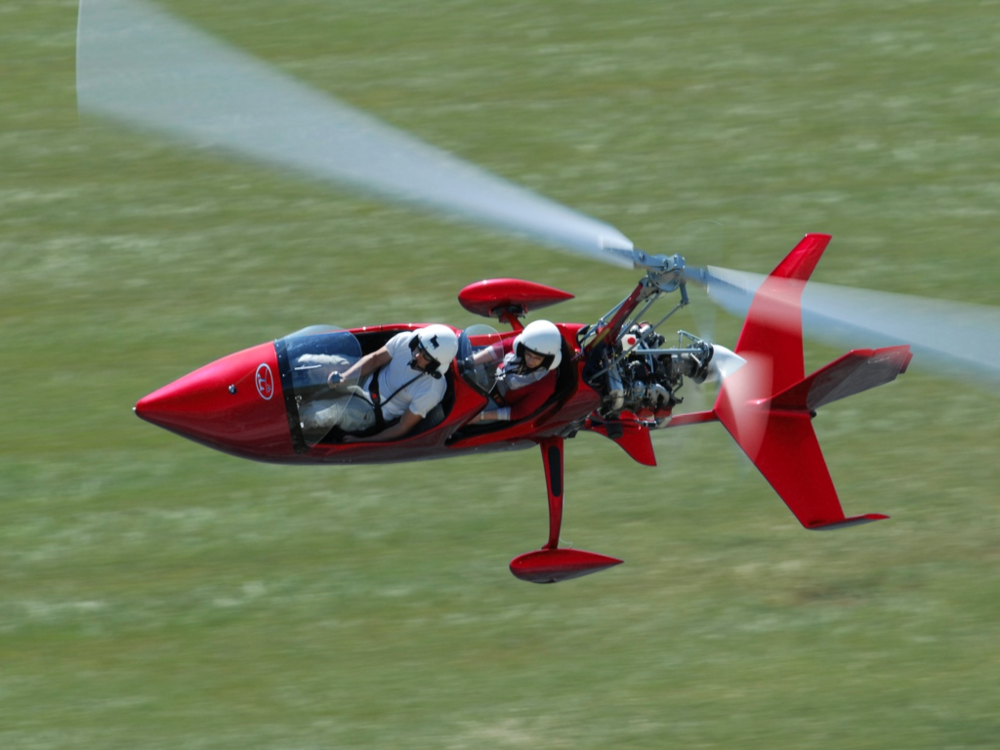 gyrocopter autogyro red autorotation