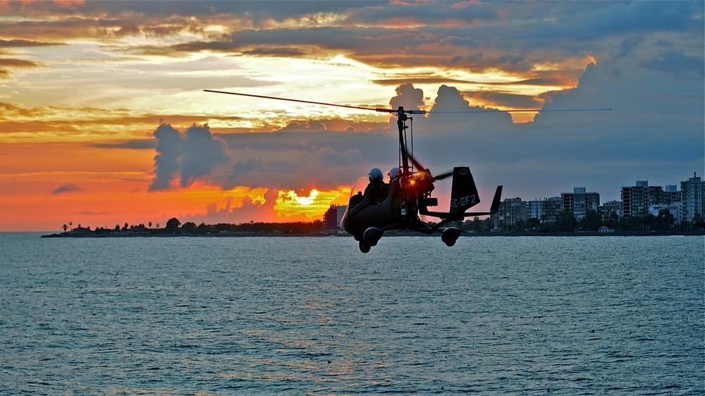 gyrocopter giro dynamics coast trip