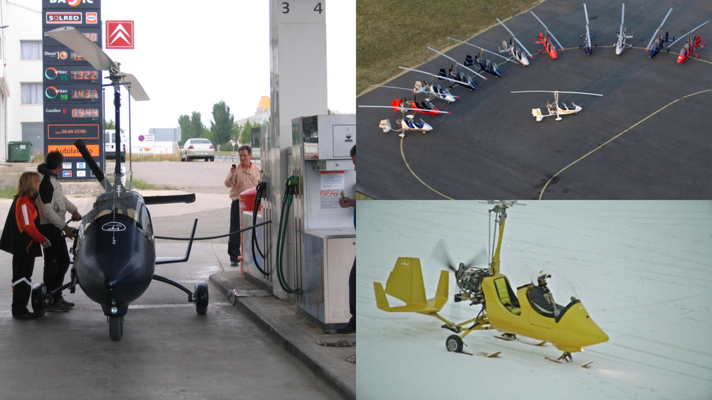 gyrocopter girodynamics refuel fillup parking autogiros snow takeoff