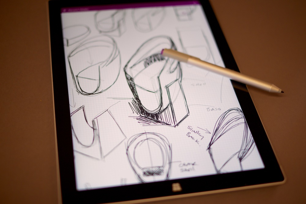Designing the Slinky Chair on the Microsoft Surface Pro
