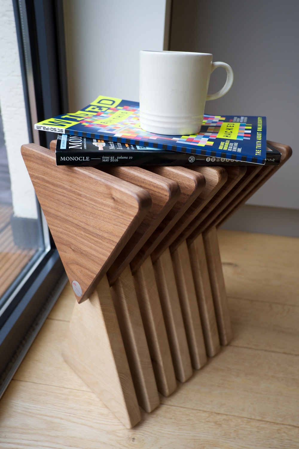 The Vinci Stool in side table mode