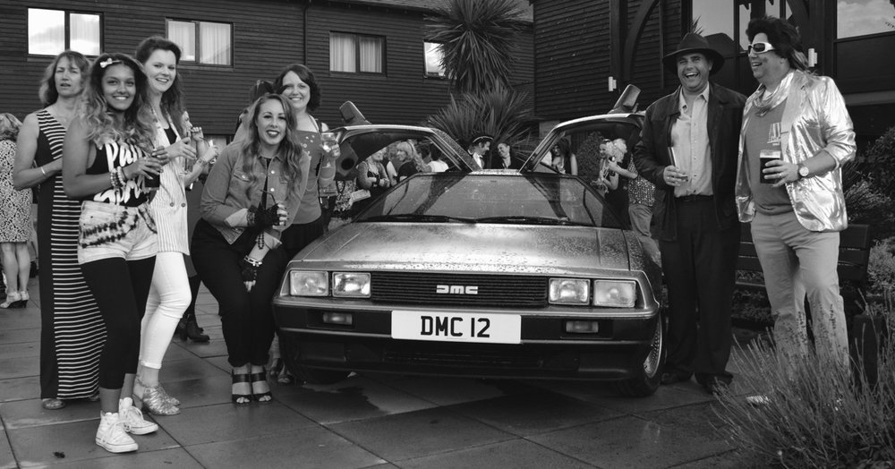 DELOREAN DMC-12 Movie Car Hire - www.SANDSTONEPRODUCTIONS.co.uk - 07590 196750
