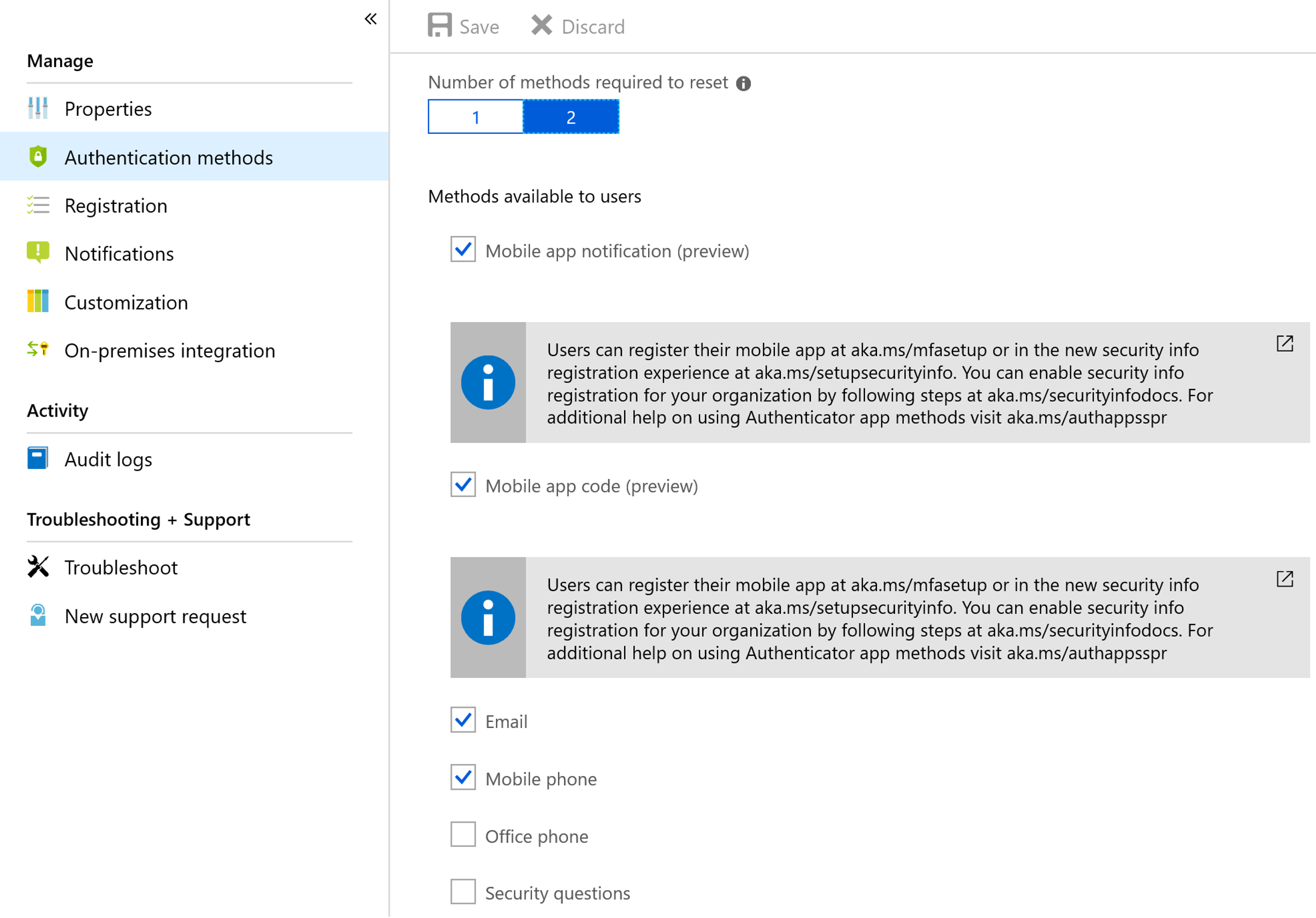 Conditional Access with Azure MFA Challenge Options
