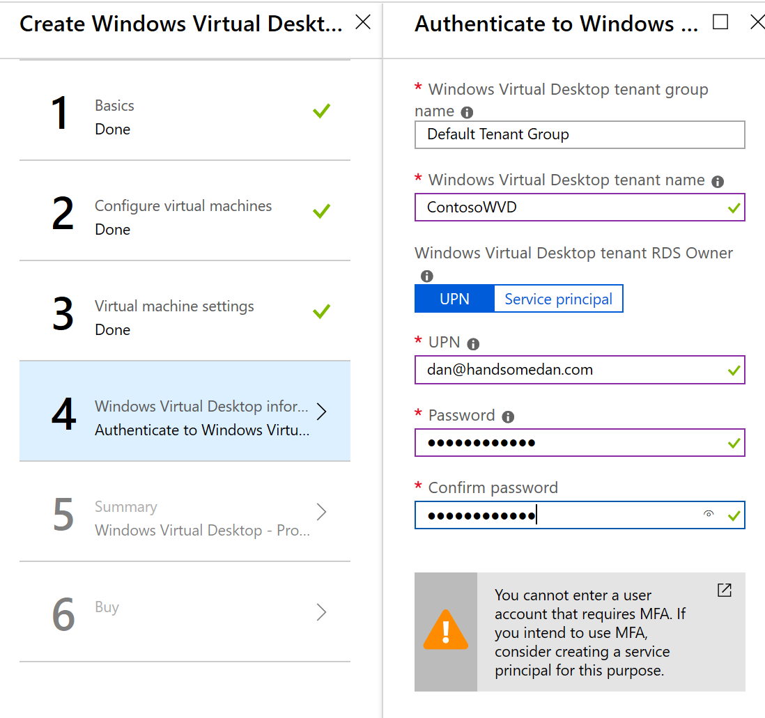Deploy Windows Virtual Desktop Authentication Screen