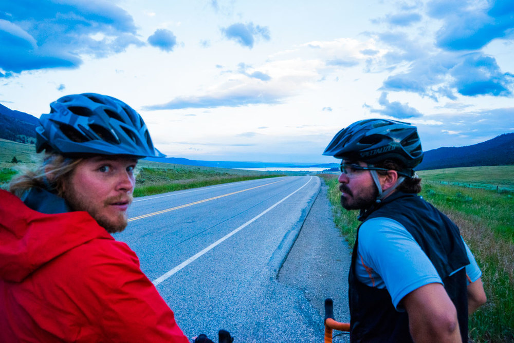 "This is Ryan's ""are you kidding me with this wind?"" face.  Entering hour 6 of riding into it, the sun was starting to set, it was cold and we were beat."