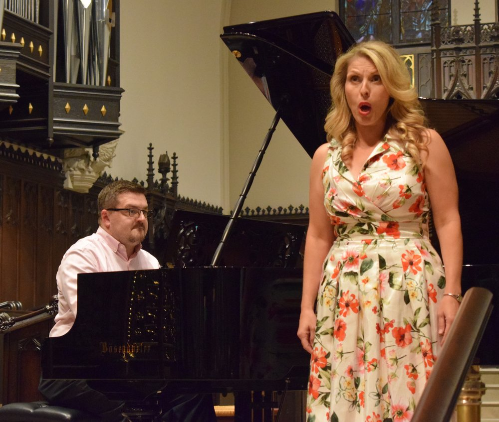 With soprano Sabrina Warren at the 2018 Belvedere Chamber Music Festival.