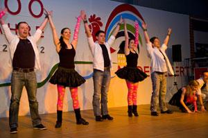 Die Rock'n'Roll-Formation der Tanzsportabteilung Niederelbert unterhielt die Besucher mit einer Showeinlage