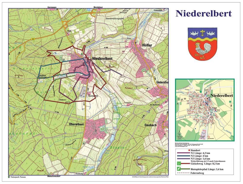 Geobasisinformationen (DTK25) © Landesamt für Vermessung und Geobasisinformation Rheinland-Pfalz vom 27.02.2007, Az.: 26722-1401