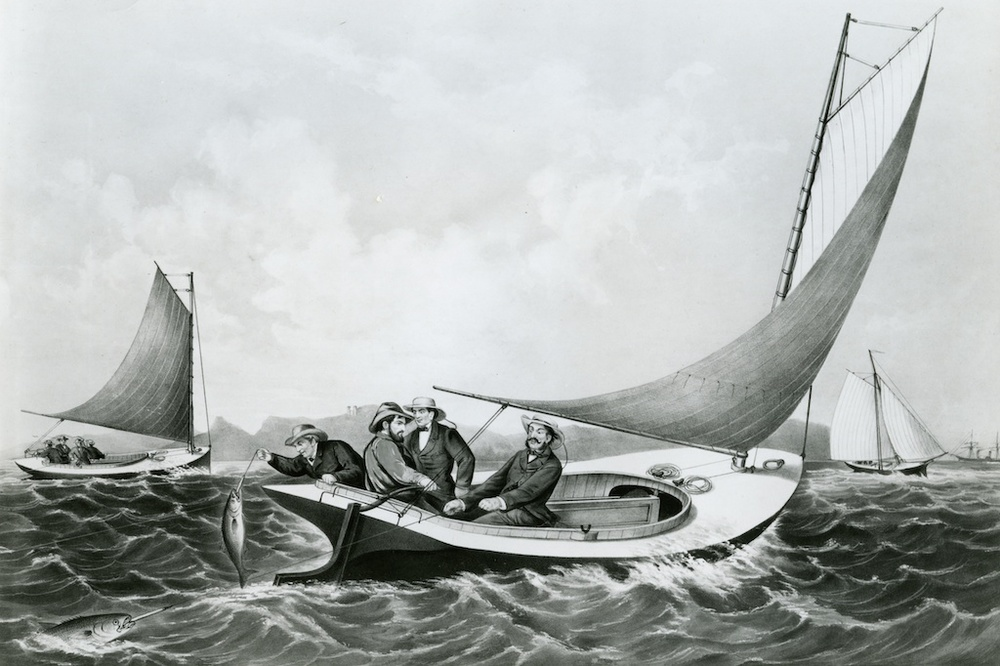 Captain Hank Haff Trolling for Blue Fish, 1866