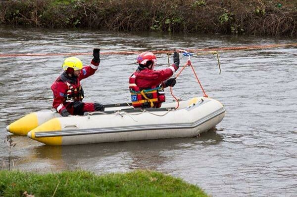 Two members of our team with one of our boats training in Staffordshire.