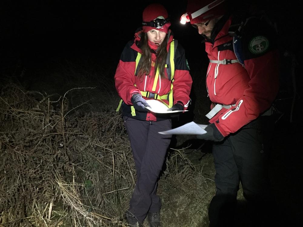 Training photo of night navigation