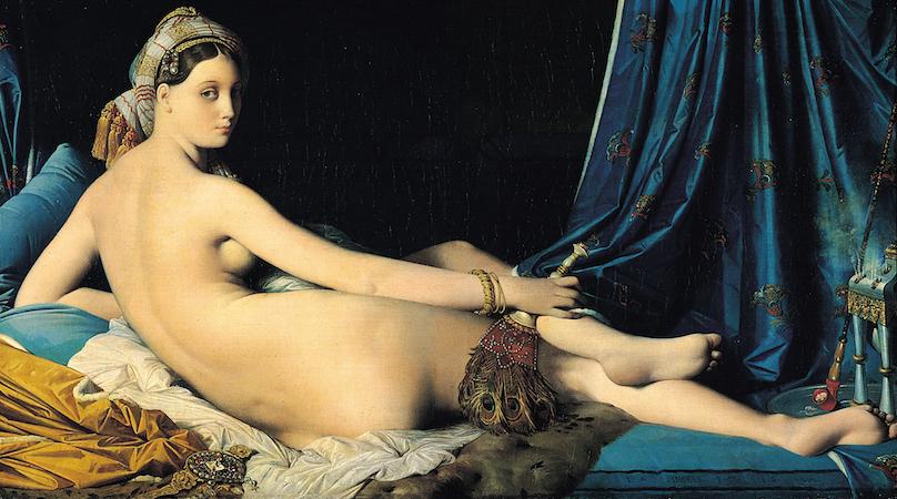 La Grande Odalisque - Jean-Auguste-Dominique Ingres, La Grande Odalisque,1814, Oil on canvas, 36