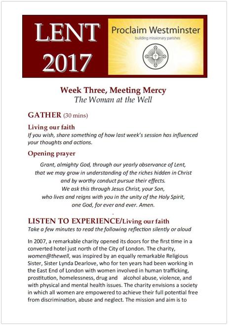 Lent 2017 Week 3