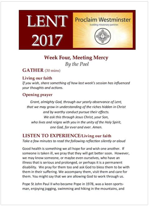 Lent 2017 Week 4