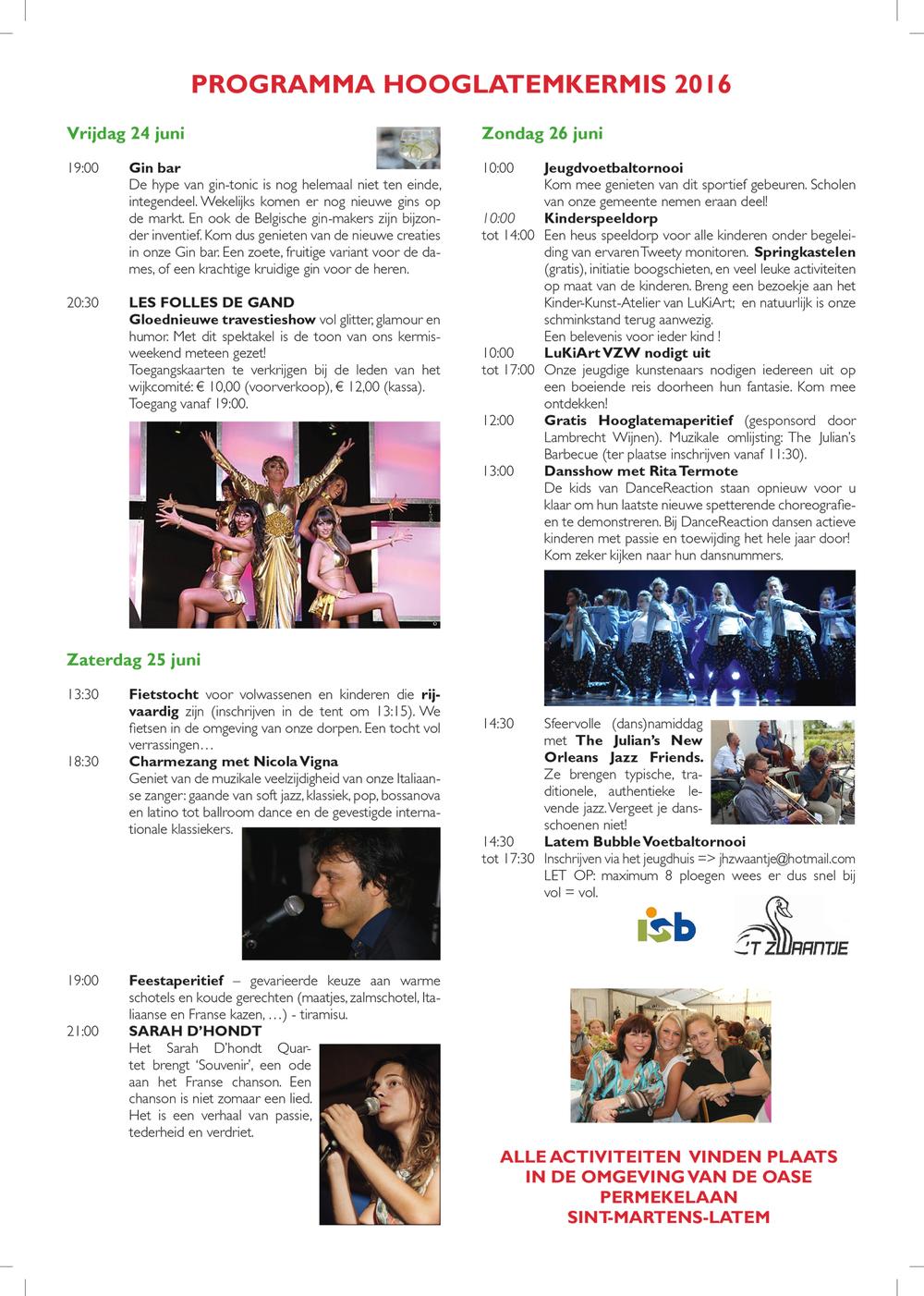 programma kermis 2016