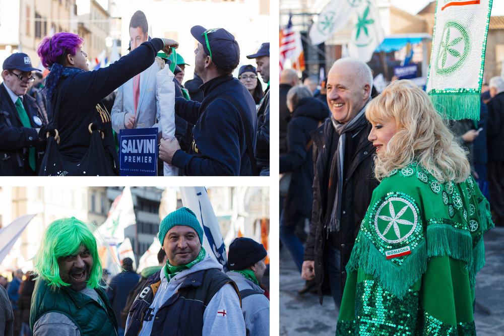 Many protestors dressed elaborately in support of their stance and were open to sharing their opinions (even with me, someone who doesn't speak Italian).