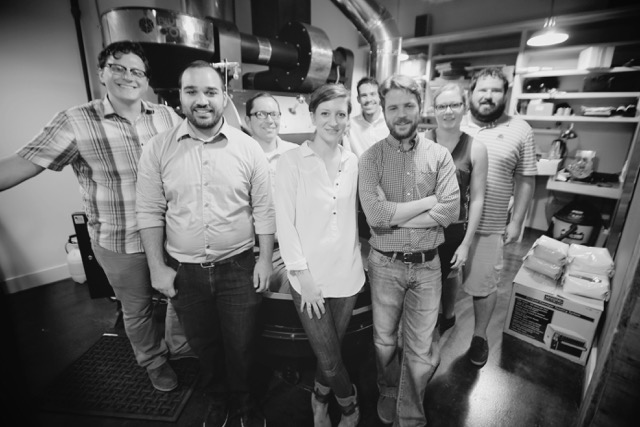 Mike Marquard, Mazi Razani, Andrew Timko, Nora Brady, Radames Roldan, Kevin Reddy, Jamie Levine, Brian Levine (Photo Courtesy of Blueprint Coffee)