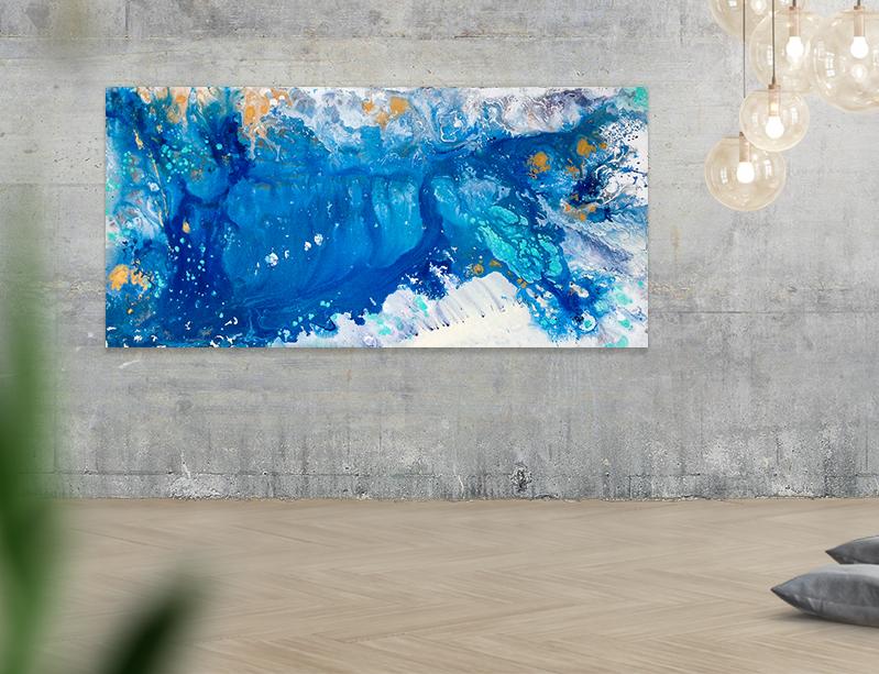 "Elevation  |  Acrylic on canvas | 24x48"" | 2016"
