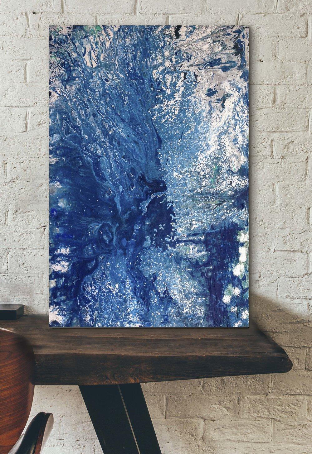 "Third Eye |  Acrylic and mixed media on canvas | 16x24"" | 2016"