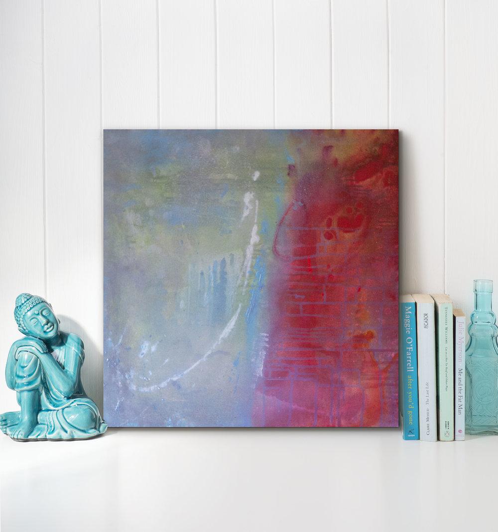 "Island breeze | Acrylic and mixed media on canvas | 24x24"""