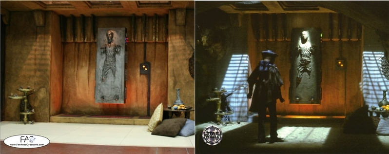 Here is a comparison of the set against the original, from the movie: